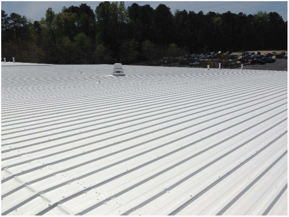 Roof Coating Project Highlight Crossroads Church Peach